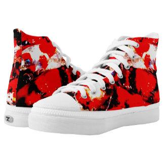 Zips High Top shoes, men and women, koi fish print Printed Shoes