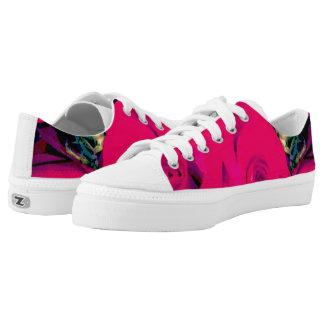Zips Low Top shoes, custom, women US/6-15, roses Printed Shoes