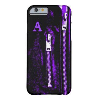 Zips Purple print Monogram iPhone 6 case