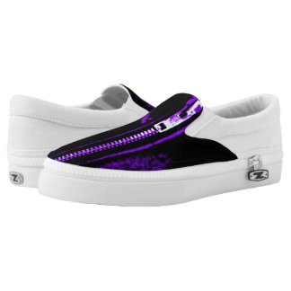 Zips Purple print slip on shoes Printed Shoes