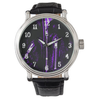 Zips Purple print watch