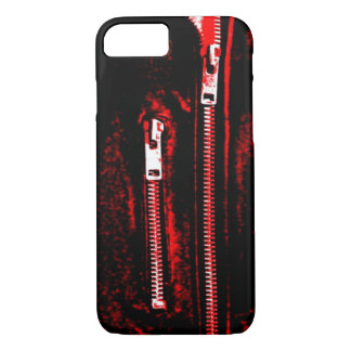 Zips Red print iPhone 7 case