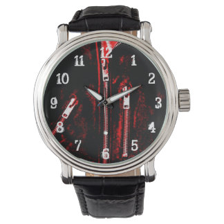Zips Red print watch