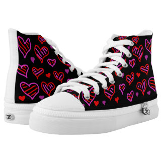 Zipz High Top Shoes - Decorated with Unique Art Printed Shoes