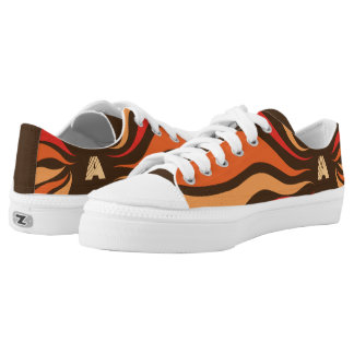 Zipz Low Top Abstract Fire Speed and Your Initial