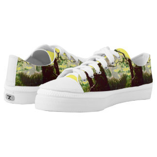 ZIPZ LOW TOP SHOES - MANGROVE SWAMP PRINTED SHOES