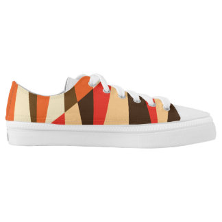 Zipz Low Top w Modern Colorful Geo Desert Pattern
