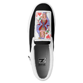 Zipz queen 👑 of hearts ♥ slip-on shoes 👞
