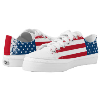 ZipZ Shoes Low Top-Patriotic USA Flag Printed Shoes