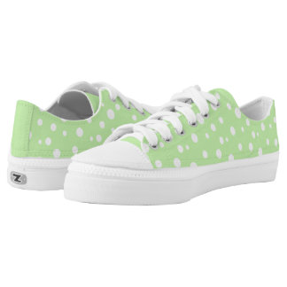 ZipZ Shoes Low Top-Polka Dots Printed Shoes