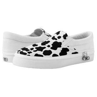 ZipZ Slip On Shoes-Cow print Printed Shoes