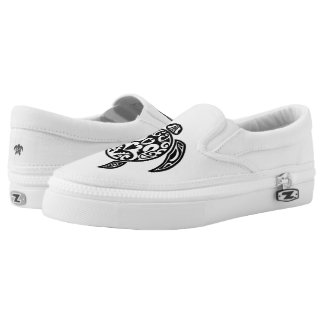 ZipZ Slip On Shoes-Island Turtle Printed Shoes