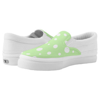 ZipZ Slip On Shoes-Polka Dots Printed Shoes