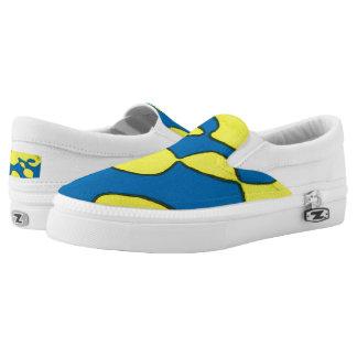 Zipz Slip Shoes, Men 4 / Women 6 - Blue Escargot Slip On Shoes