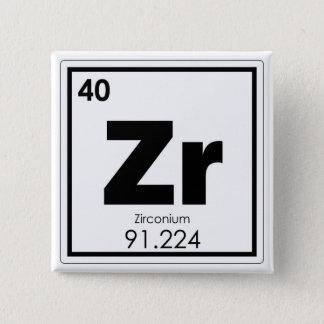 Zirconium chemical element symbol chemistry formul 15 cm square badge