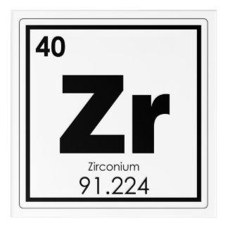 Zirconium chemical element symbol chemistry formul acrylic print
