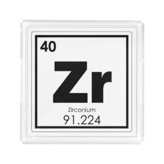 Zirconium chemical element symbol chemistry formul acrylic tray