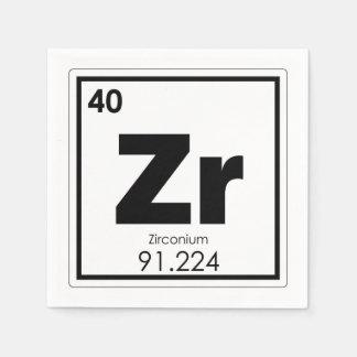 Zirconium chemical element symbol chemistry formul disposable napkins