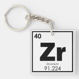 Zirconium chemical element symbol chemistry formul key ring