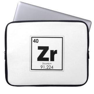 Zirconium chemical element symbol chemistry formul laptop sleeve