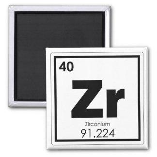 Zirconium chemical element symbol chemistry formul magnet