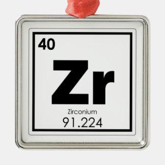 Zirconium chemical element symbol chemistry formul metal ornament