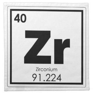 Zirconium chemical element symbol chemistry formul napkin