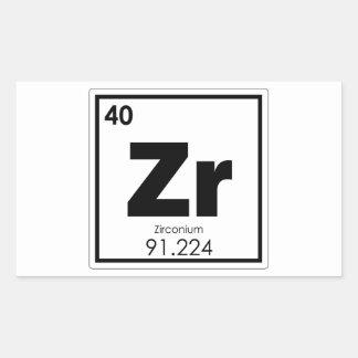 Zirconium chemical element symbol chemistry formul rectangular sticker