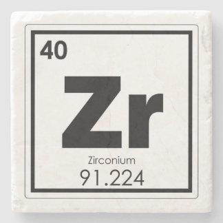 Zirconium chemical element symbol chemistry formul stone coaster
