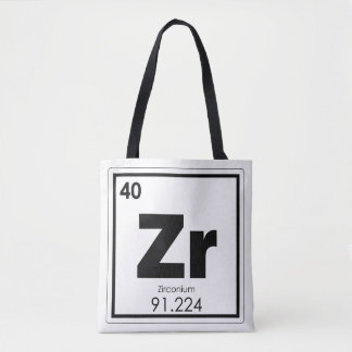 Zirconium chemical element symbol chemistry formul tote bag