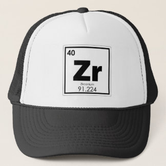 Zirconium chemical element symbol chemistry formul trucker hat