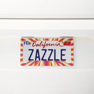 Zizia License Plate Frame