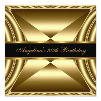Zizzago Elegant 30th Birthday Exotic Rich Gold Card