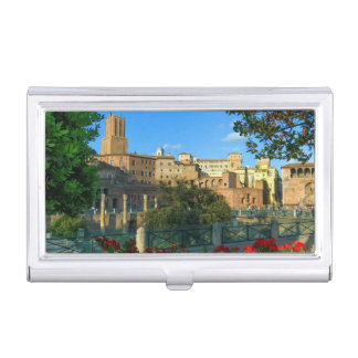 zL_italy_forum_romano_flowers_day Business Card Holder