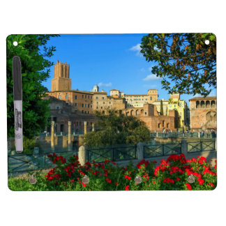 zL_italy_forum_romano_flowers_day Dry Erase Board With Key Ring Holder