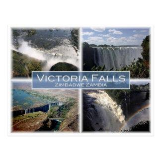 ZM Zambia - Zimbabwe - Victoria Falls - Postcard