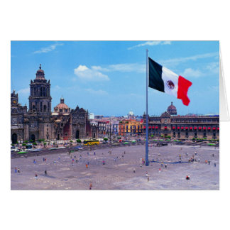 Zocalo, Mexico City, Mexico Card