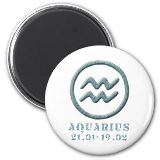 Zodiac 6 Cm Round Magnet