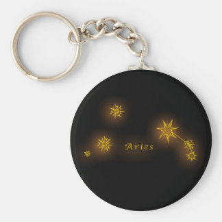 Zodiac - Aries Basic Round Button Key Ring