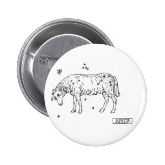 Zodiac Aries Button