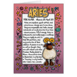 Zodiac - Aries Fun Facts Greeting Card