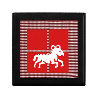 ZODIAC ARIES Jyotish  Astrology Small Square Gift Box
