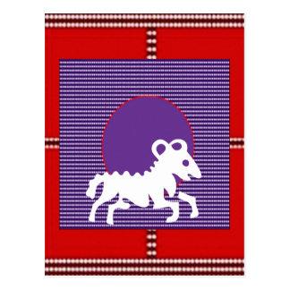 ZODIAC ARIES Jyotish  Astrology Postcard