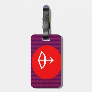 ZODIAC Arrow Sagittarius Astrology Travel Bag Tags