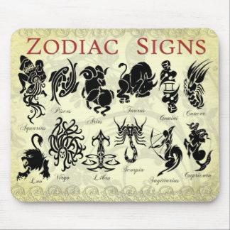 Zodiac (Astrological) signs Mouse Pad