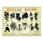 Zodiac (Astrological) signs Post Card