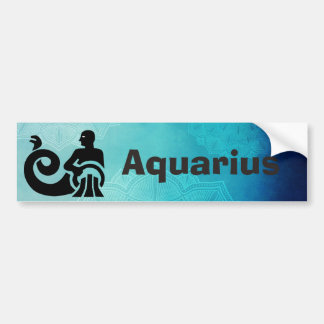 Zodiac Astrology Horoscope Sign Aquarius Bumper Bumper Sticker