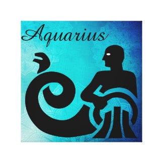 Zodiac Astrology Horoscope Sign Aquarius Wall Art