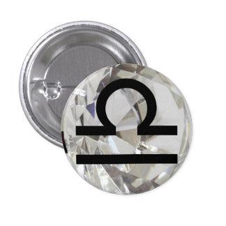 Zodiac Astrology Sign Libra Button