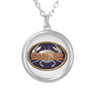 Zodiac cancer crab sterling silver necklace